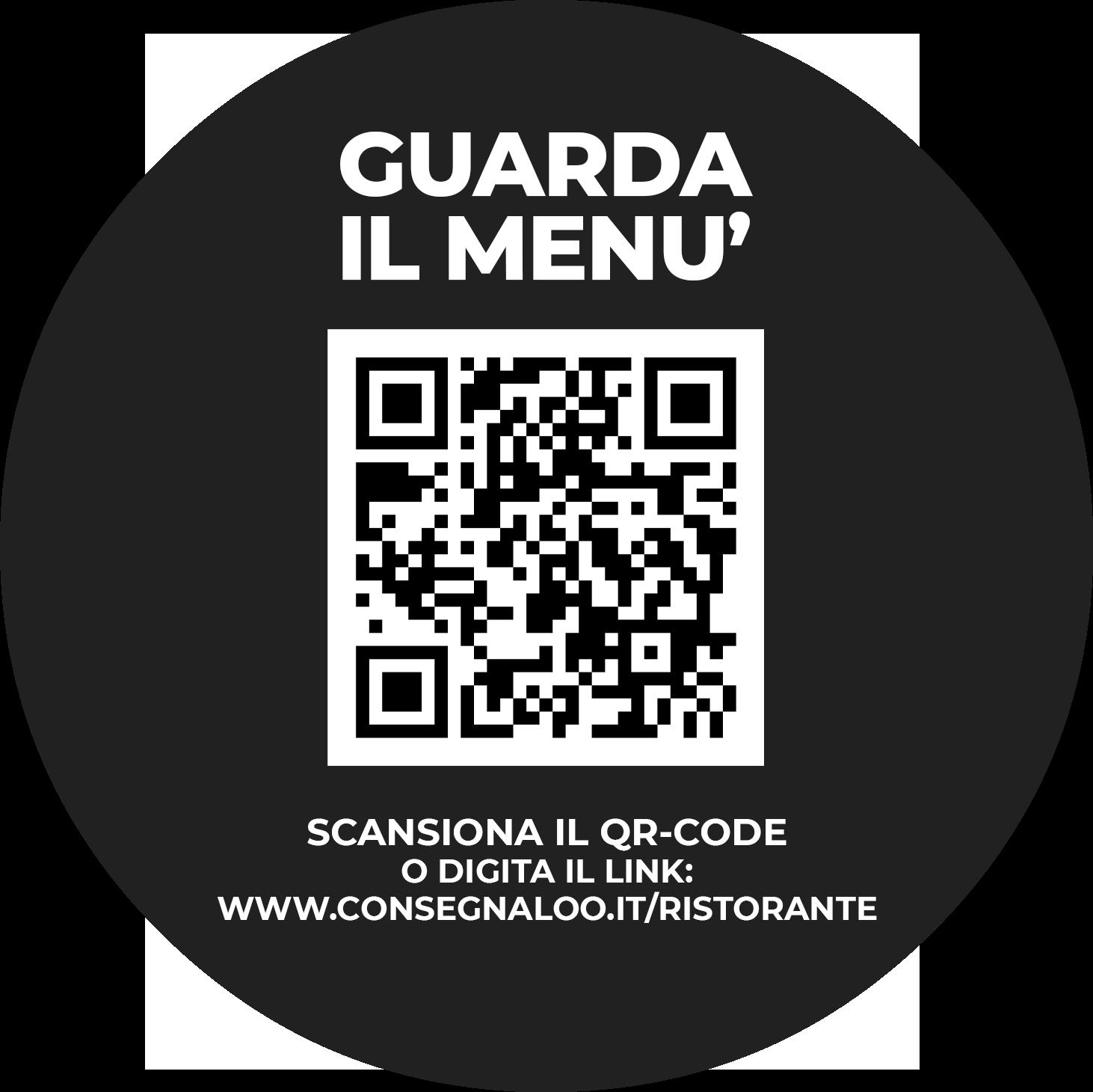 Adesivo rotondo Menu Digitale con QR-code 03