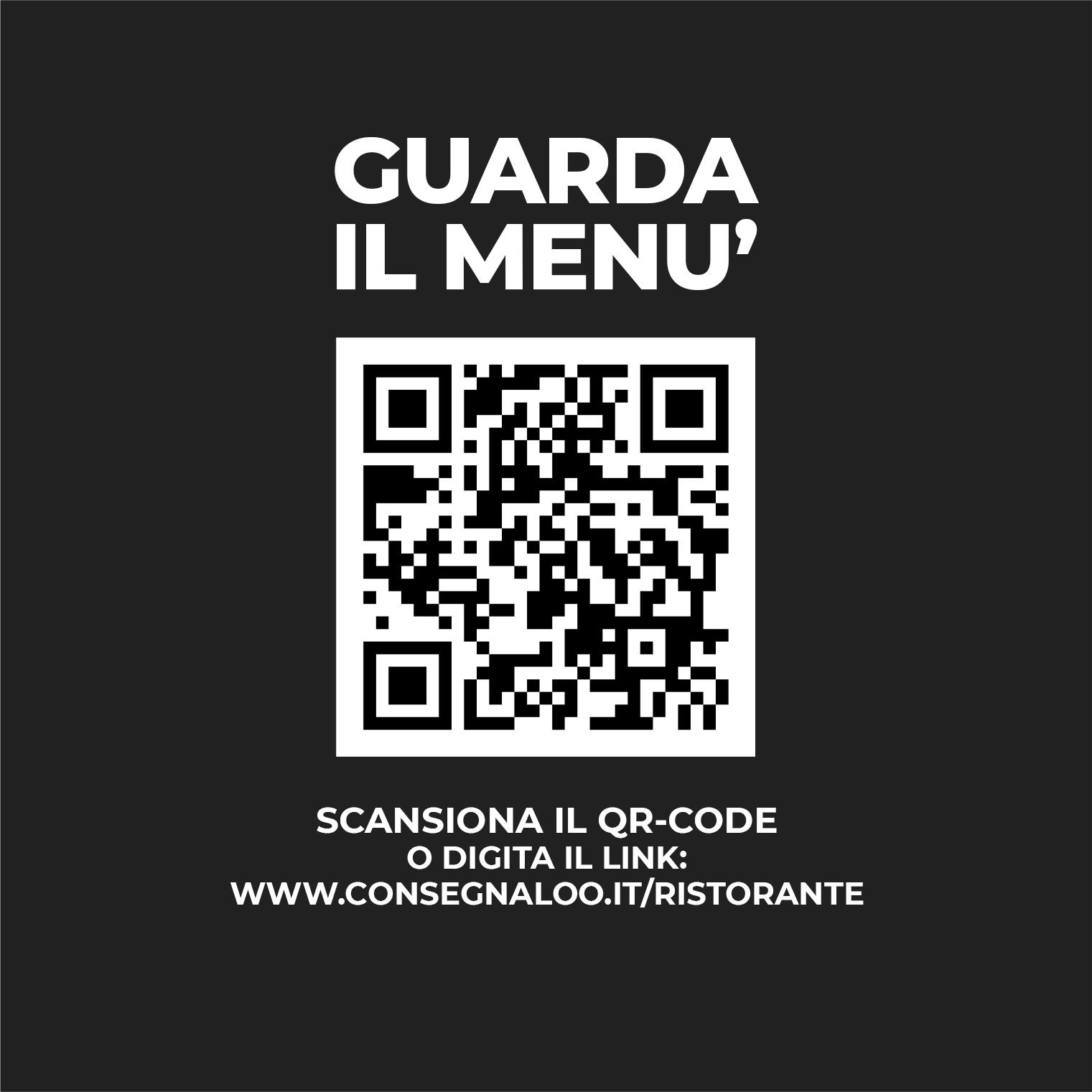Cartolina Menu con QR-code 01